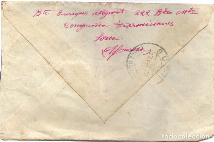 Sellos: LOTE 3 SOBRES CIRCULADOS DE LORCA 222 COMPAÑÍA DE TRANSMISIONES A SUECA (VALENCIA) AÑO 1938 - Foto 4 - 193344701