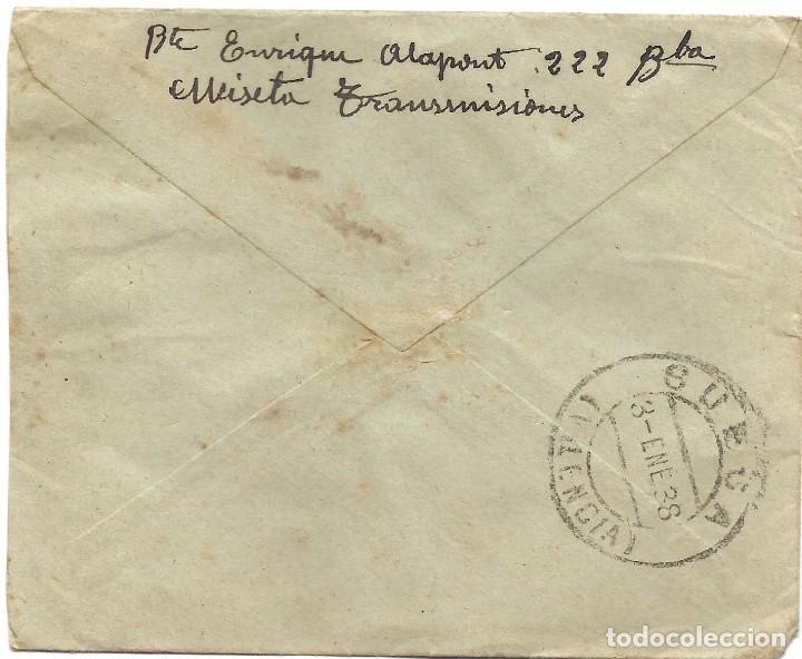 Sellos: LOTE 3 SOBRES CIRCULADOS DE LORCA 222 COMPAÑÍA DE TRANSMISIONES A SUECA (VALENCIA) AÑO 1938 - Foto 7 - 193344701