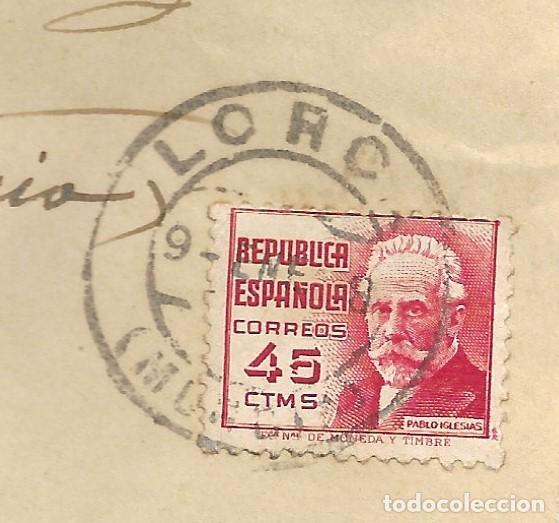 Sellos: LOTE 3 SOBRES CIRCULADOS DE LORCA 222 COMPAÑÍA DE TRANSMISIONES A SUECA (VALENCIA) AÑO 1938 - Foto 9 - 193344701