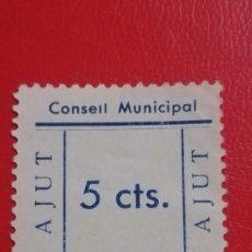 Sellos: SELLO 5 CTS CONSEIL MUNICIPAL AJUT, PREMIA DE MAR, BARCELONA. Lote 193379456