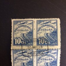 Sellos: VIÑETAS PRO COMBATIENTES CORUÑA GUERRA CIVIL. Lote 193392927
