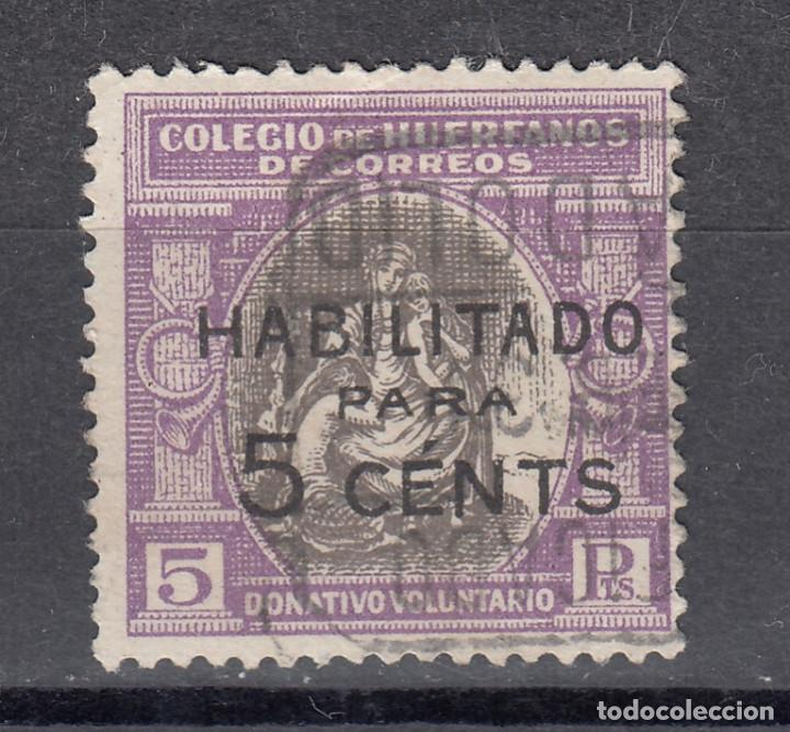 COLEGIO DE HUERFANOS DE CORREOS. HABILITADO PARA 5 CTS. USADO (1219) (Sellos - España - Guerra Civil - Viñetas - Usados)