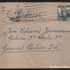 Sellos: MADRID, CARTA Y SOBRE, PRISION GENERAL POLIER.- SED BREVES EN LAS CONTESTACIONES-- VER FOTO . Lote 193793838