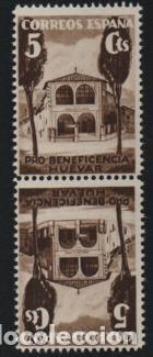 HUEVAR-SEVILLA- 5 CTS, -BENEFICENCIA--ESPAÑA-.DENTADO,VER ALLEPUZ Nº 162 VER FOTO (Sellos - España - Guerra Civil - De 1.936 a 1.939 - Usados)