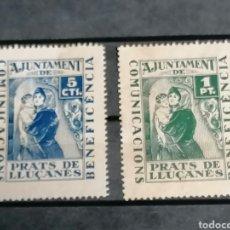 Sellos: VIÑETAS GUERRA CIVIL PRATS DE LLUÇANÈS BARCELONA. Lote 193818590