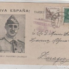 Sellos: TARJETA POSTAL PATRIOTICA CENSURA MILITAR DE CORELLA NAVARRA FECHADA 29- 1- 1939 GUERRA CIVIL FRANCO. Lote 193951427