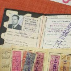 Sellos: GUERRA CIVIL CARNET CNS CON VIÑETAS 1939-40. Lote 194005641