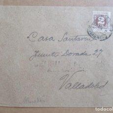 Sellos: CIRCULADA DE ALMADEN CIUDAD REAL A VALLADOLID CON CENSURA MILITAR. Lote 194115872
