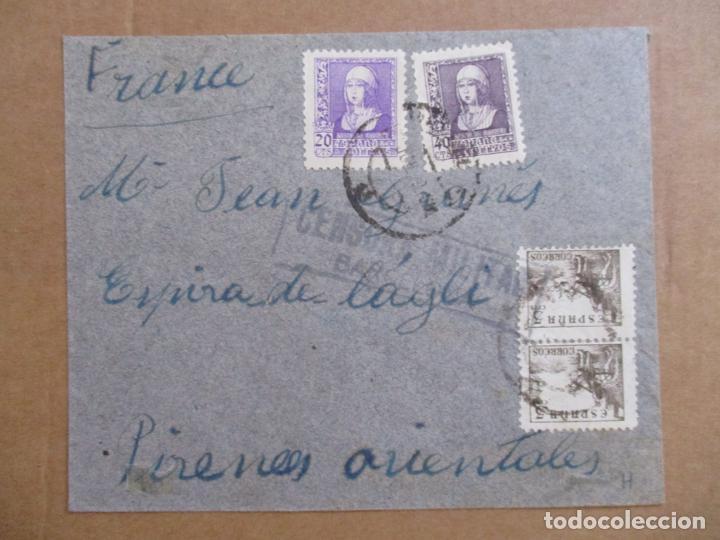 CIRCULADA DE BARCELONA A FRANCIA CON CENSURA MILITAR (Sellos - España - Guerra Civil - De 1.936 a 1.939 - Cartas)