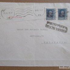 Sellos: CIRCULADA 1938 DE ZARAGOZA A SALAMANCA CON CENSURA MILITAR. Lote 194118042
