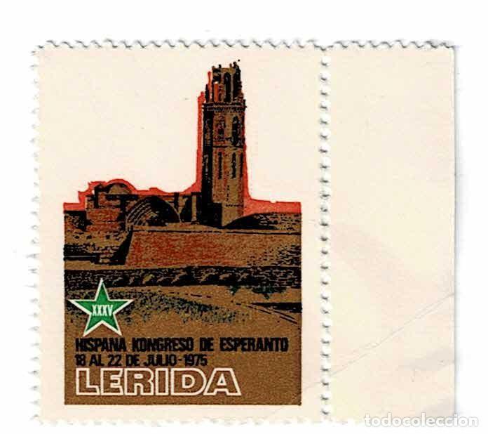CL2-689 LERIDA ESPERANTO XXXV HISPANA KONGRESO DE ESPERANTO 18 AL 22 DE JULIO 1975 (Sellos - España - Guerra Civil - Viñetas - Nuevos)