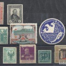 Sellos: MINI LOTE 9 VIÑETAS INTERNACIONALES. Lote 194292731