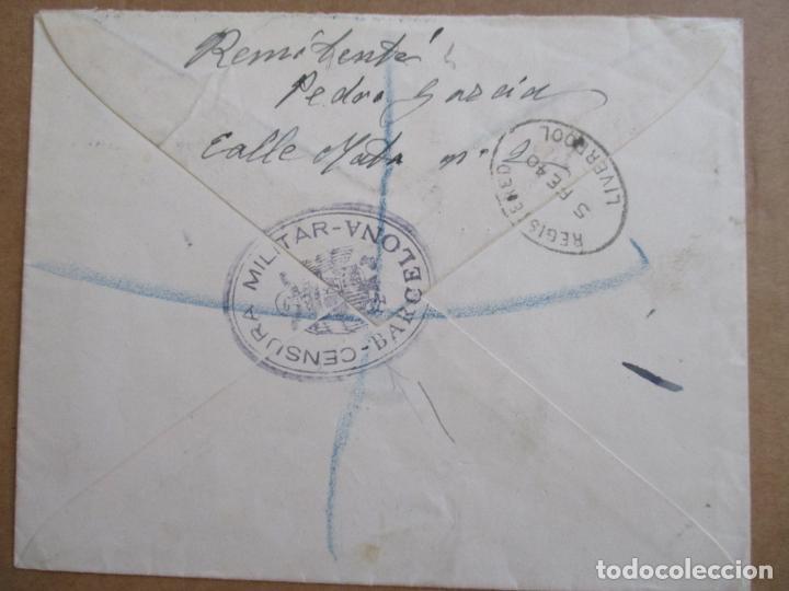 Sellos: CIRCULADA 1940 DE BARCELONA A LONDON LONDRES CON CENSURA MILITAR - Foto 2 - 194548197