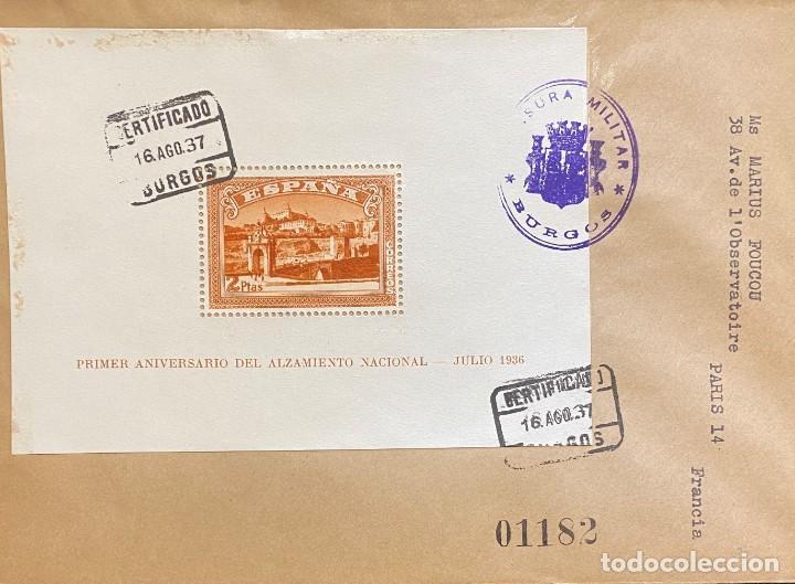 ESPAÑA CARTA CIRCULADA EN 1937 (Sellos - España - Guerra Civil - De 1.936 a 1.939 - Cartas)