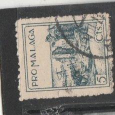 Sellos: MALAGA - PRO MALAGA 5 CTS. - USADO. Lote 194621223