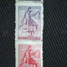 Sellos: TIRA DE SELLOS FEIRA DO MAR, VIGO ,1945. Lote 194621260