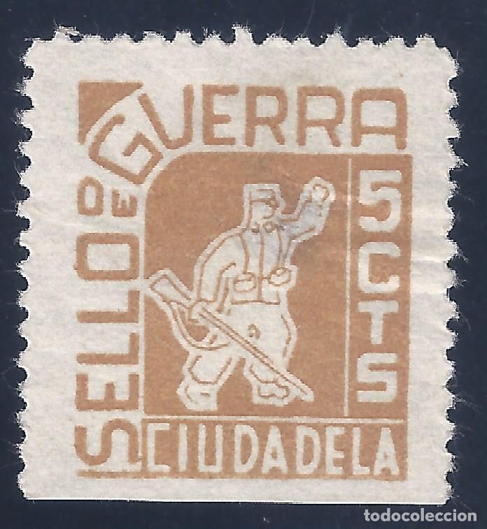 CIUDADELA. SELLO DE GUERRA. 5 CTS. MH * (Sellos - España - Guerra Civil - Locales - Nuevos)