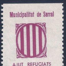 Sellos: MUNICIPALITAT DE SARRAL. AJUT REFUGIATS. MH *. Lote 194639076