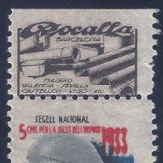 Sellos: PRO INFANCIA. SEGELL NACIONAL PER LA SALUT DELS INFANTS 1933. MH *. Lote 194640573