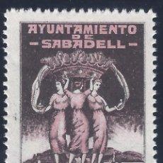 Sellos: AYUNTAMIENTO DE SABADELL. SELLO MUNICIPAL. 1 PTA. MNH **. Lote 194642707
