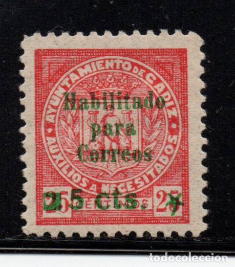 CADIZ GALVEZ 156 -IIIA** - AÑO 1937 - CORREOS - HABILITADO PARA CORREOS (Sellos - España - Guerra Civil - Locales - Nuevos)