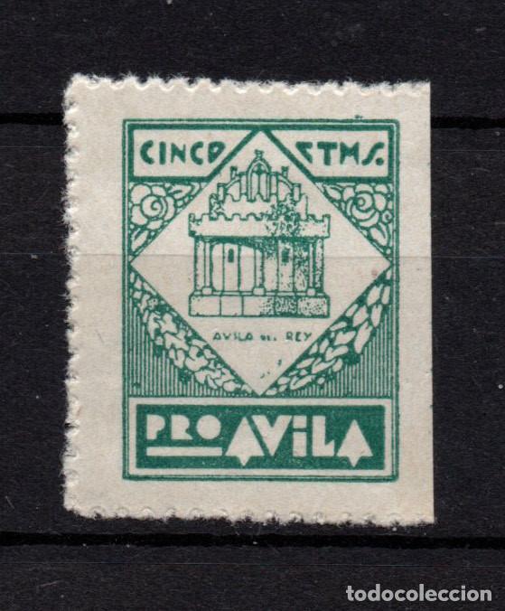 AVILA GALVEZ 92** - AÑO 1937 - PRO AVILA (Sellos - España - Guerra Civil - Locales - Nuevos)