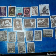 Sellos: VIÑETAS, COLECCION DE MAS DE 80 VIÑETAS SEMANA SANTA REUS, FERIA, ETC VER FOTOS. Lote 194757408