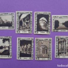 Sellos: LOTE 8 SELLOS VIÑETA GALICIA CAMBADOS OURENSE CALDAS DE REYES ALFARIZ PONTEVEDRA . Lote 194787296