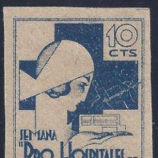 Sellos: SEMANA PRO HOSPITALES DE SANGRE. VALENCIA. MUY DIFÍCIL DE ENCONTRAR. LUJO. MNG.. Lote 194909878