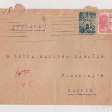 Sellos: SOBRE DE BARCELONA A UN CAMARADA EN MADRID. DORSO FECHADOR CARTERÍA. 1938. Lote 194938162