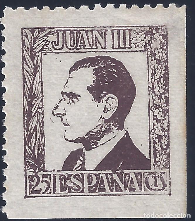 JUAN III. DON JUAN DE BORBÓN. MNH ** (Sellos - España - Guerra Civil - Viñetas - Nuevos)