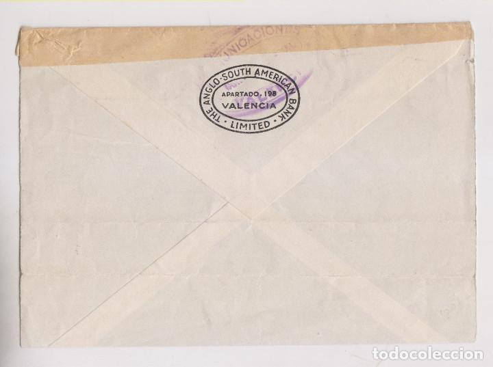 Sellos: SOBRE. VALENCIA A BÉLGICA. CENSURA MILITAR. RARO MATASELLOS CRUZ DE TINTA - Foto 2 - 194970750