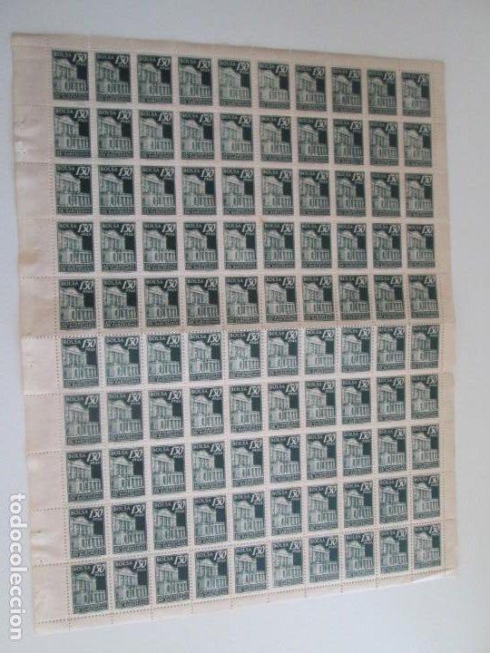 AYUNTAMIENTO DE BARCELONA * 1,50 PESETAS BOLSA * PLIEGO CON 100 SELLOS (Sellos - España - Guerra Civil - Locales - Nuevos)