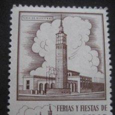 Sellos: FERIA DE MUESTRAS. FERIAS Y FIESTAS DEL PILAR ZARAGOZA 11-18 OCTUBRE. FOURNIER VITORIA. Lote 195046207