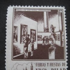 Sellos: SALON DE ARTISTAS ARAGONESES. FERIAS Y FIESTAS DEL PILAR ZARAGOZA 11-18 OCTUBRE. FOURNIER VITORIA. Lote 195046898