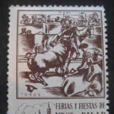 Sellos: TOROS. FERIAS Y FIESTAS DEL PILAR ZARAGOZA 11-18 OCTUBRE. FOURNIER VITORIA. Lote 195046948