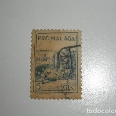 Sellos: PRO MALAGA 5 CENTIMOS SELLO USADO. Lote 195104393