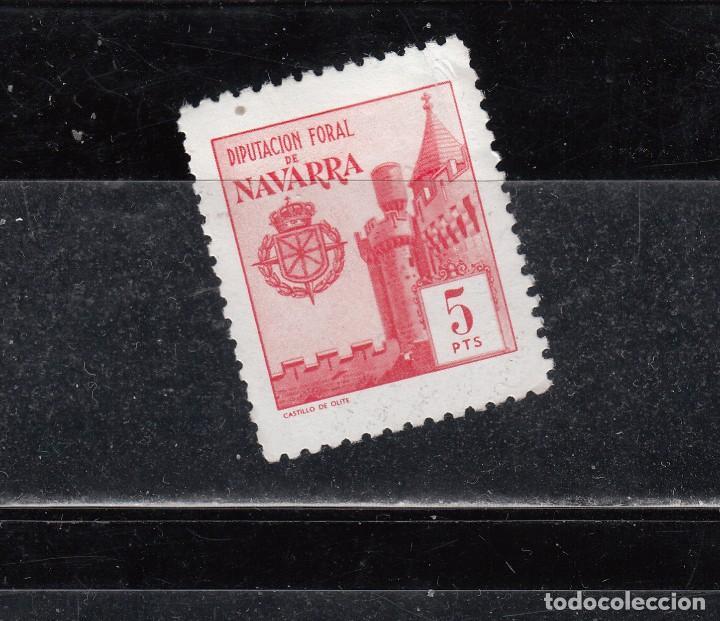 DIPUTACION FORAL DE NAVARR. 5 PTAS. (Sellos - España - Guerra Civil - Locales - Nuevos)