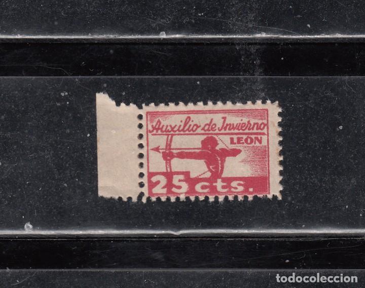 LEON. AUXILIO DE INVIERNO. 25 CTS, (Sellos - España - Guerra Civil - Locales - Nuevos)