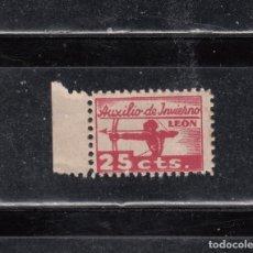 Sellos: LEON. AUXILIO DE INVIERNO. 25 CTS,. Lote 195162450