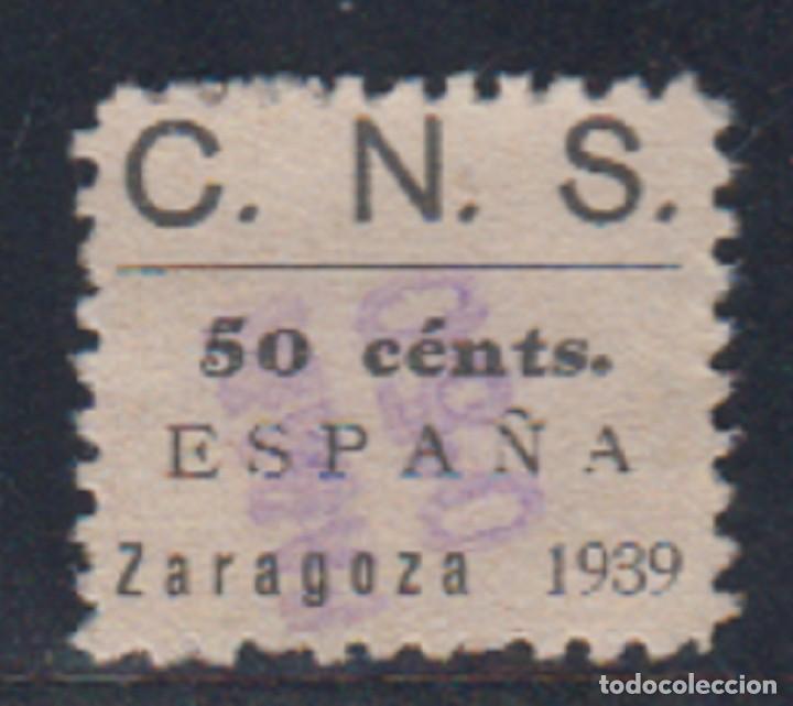 ZARAGOZA. EDIFIL 92A US. 50 CTS ESPAÑA ZARAGOZA 1939. CIFRA 5 CON ADORNO. (Sellos - España - Guerra Civil - De 1.936 a 1.939 - Nuevos)
