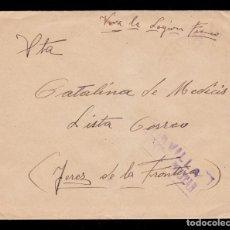 Sellos: *** CARTA SEVILLA-JEREZ DE LA FRONTERA 1938. RMTE. HOSPITAL LEGIONARIO DE SEVILLA. ***. Lote 195183896