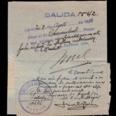 Sellos: *** TELEGRAMA 1940 CÓRDOBA-CUTAR (MÁLAGA) REGIMIENTO DE INFANTERÍA Nº41 PERMISO A SOLDADO ***. Lote 195184855