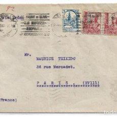 Sellos: CARTA DE SEVILLA A PARIS CON CENSURA MILITAR. Lote 195195623