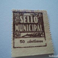 Sellos: SELLO MUNICIPAL, 50 CTS USADO. Lote 195209568