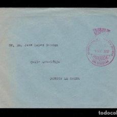 Sellos: * CARTA A PUENTE LA REINA (NAVARRA) 1937 FRANQUICIA ASAMBLEA LOCAL DE LA CRUZ ROJA SAN SEBASTIÁN *. Lote 195234216