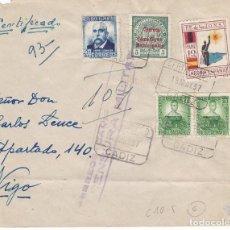 Sellos: F6-14- GUERRA CIVIL. CERTIFICADO CÁDIZ -VIGO 1937. LOCALES Y CENSURA. Lote 195235637