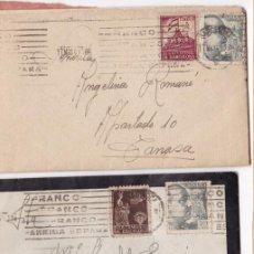 Sellos: F8-3- LOTE 2 CARTAS CON TEXTO BARCELONA - TARRASA 1941. Lote 195266808