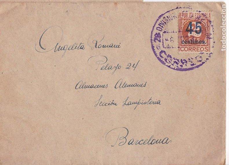 F8-5- GUERRA CIVIL . CARTA DEL FRENTE TERUEL 28 DIVISIÓN . 126 BRIGADA MIXTA 1938 (Sellos - España - Guerra Civil - De 1.936 a 1.939 - Cartas)
