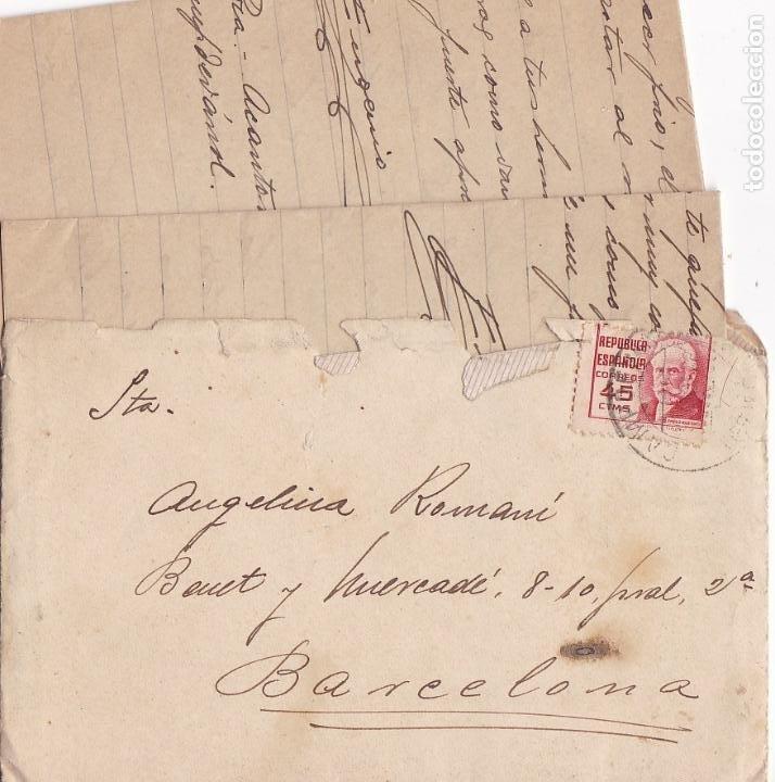 F8-6- GUERRA CIVIL .CARTA CAMPDEVANOL (GERONA) 1938. ACANTONAMIENTO TROPAS EXTRANJERAS (Sellos - España - Guerra Civil - De 1.936 a 1.939 - Cartas)